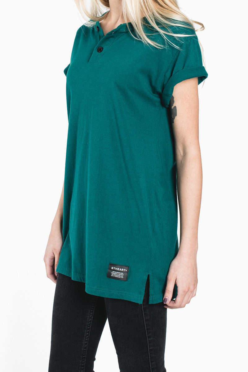 Henley Tee :: Lake