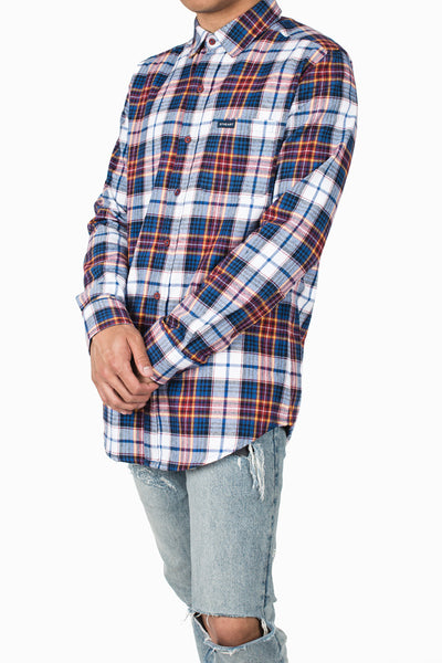Braderick Flannel Long Sleeve :: Blue