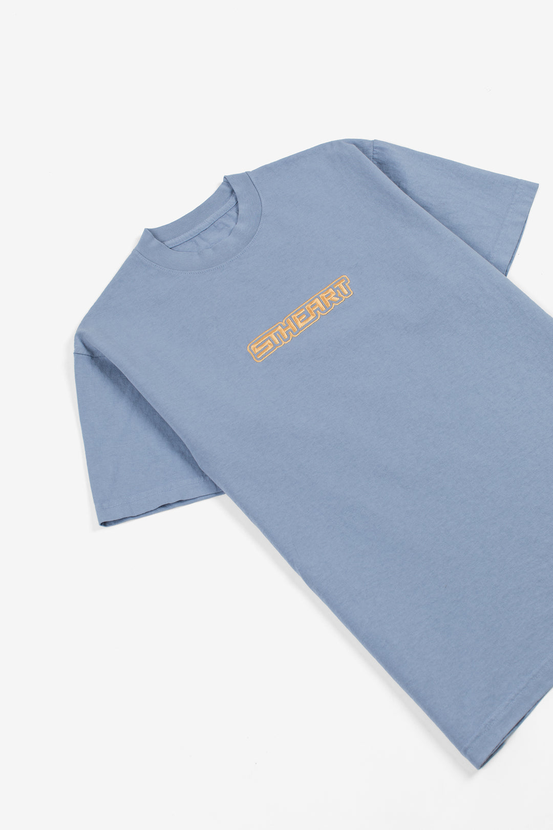 Futuretype Embroidered Heavy Tee | Blue