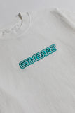 Futuretype Embroidered Heavy Tee | Off White