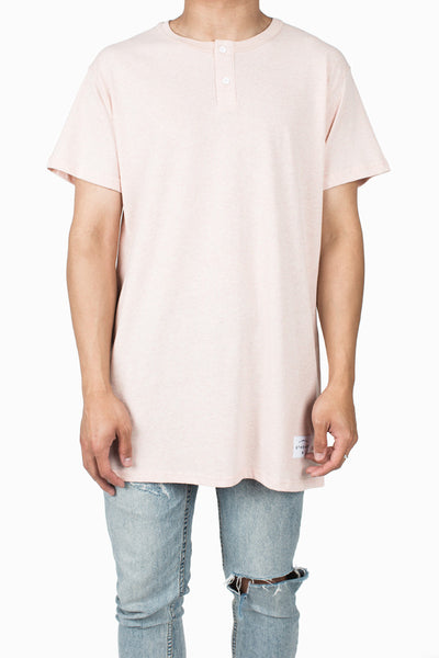 Henley Tee | Heather Apricot