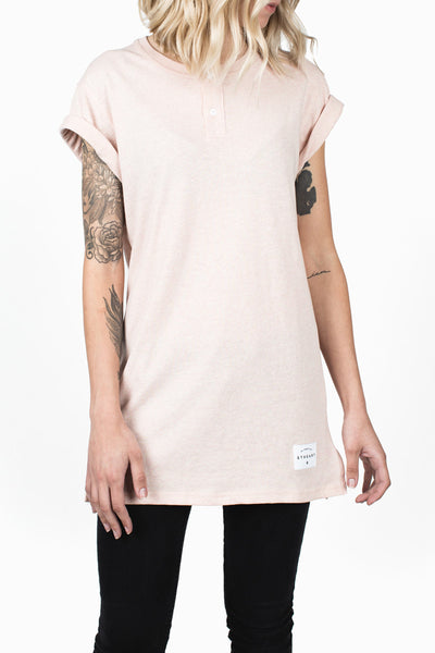 Henley Tee :: Heather Apricot