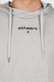 Logo Drop Hoodie __ Heather Grey