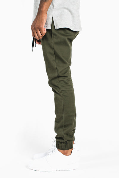 002 Skinny Joggers :: Olive