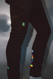 002 Joggers __ Black/Oil Slick