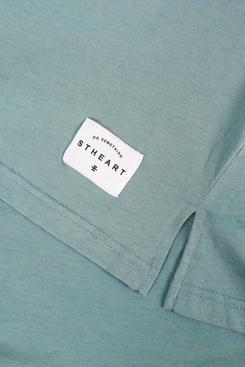 Long Fit Tee :: Lagoon