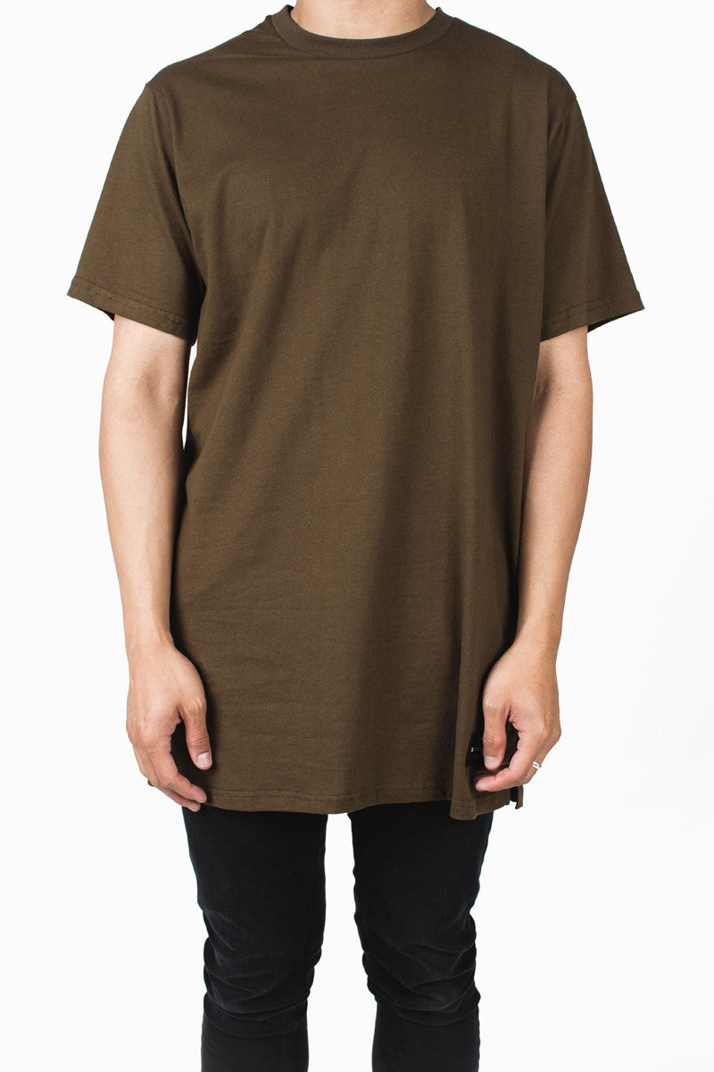 Long Fit Tee | Dark Earth