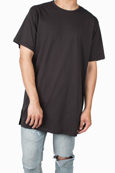 Long Fit Tee :: Faded Black