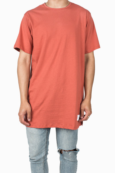 Long Fit Tee :: Coral