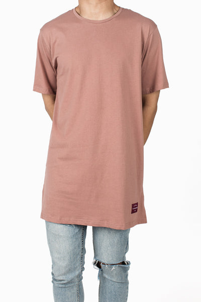 Long Fit Tee :: Faded Rose