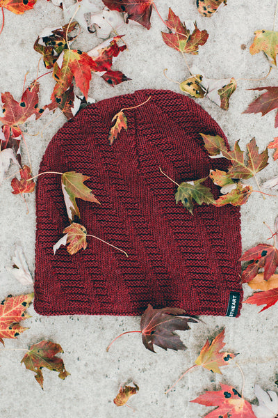 Staircase Slouch Beanie :: Burgundy
