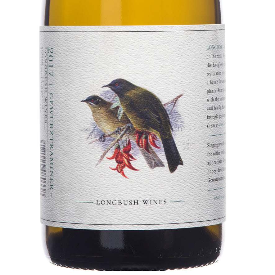 Longbush Wines 'Bird Series' 2017 Gewurztraminer