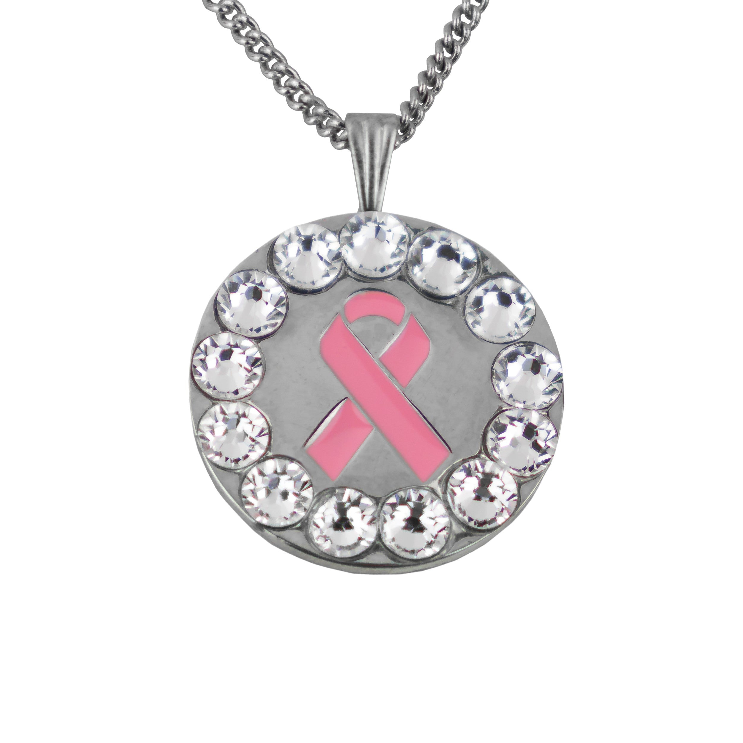 Pink Ribbon Ball Marker - Clear
