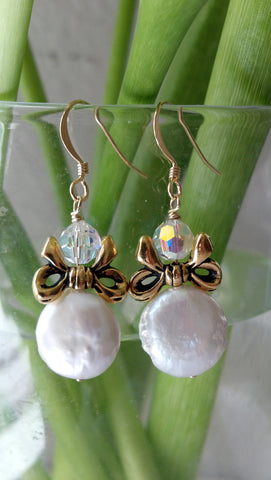 The Pearl Angel Earrings