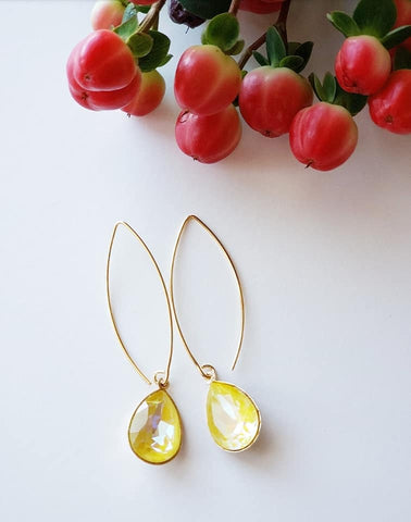 SWAROVSKI  DELITE PEAR SHAPE EARRINGS
