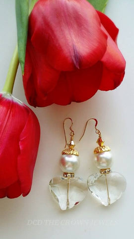 THE PEARL SWAROVSKI CRYSTAL EARRINGS