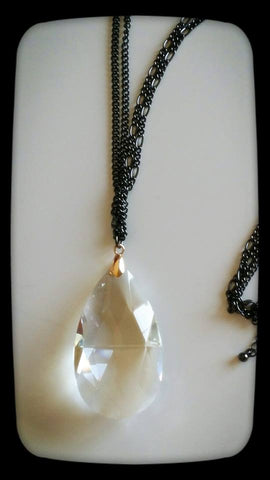 LARGE CRYSTAL CHAIN PENDANT