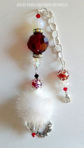 THE CRYSTAL HEARTS FUR PURSE CHARM