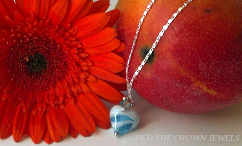 THE BLUE HEART NECKLACE