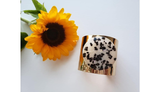LEOPARD GLASS ART CUFF