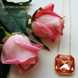 PEACH CRYSTAL PENDANT