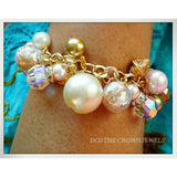 PEARLS AND CRYSTAL COIN BRACELET