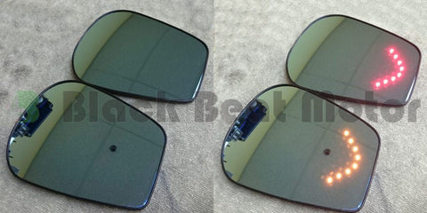 BBM Polarized Convex Mirrors w/ LED Turn Signal + Core - 2013+ Scion FR-S / Subaru BRZ / Toyota GT86
