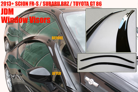 BBM Window Visors Kit - 2013+ Scion FR-S / Subaru BRZ / Toyota GT86