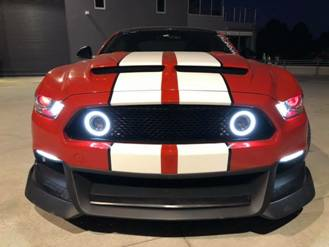 2015-17 Ford Mustang S550 Front Grille w/ LED DRL Ring