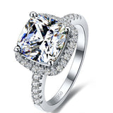 Regina 3CT Cushion Cut Halo IOBI Cultured Diamond Ring