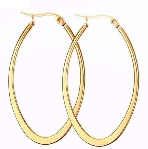 gold stainless steel hoop earrings