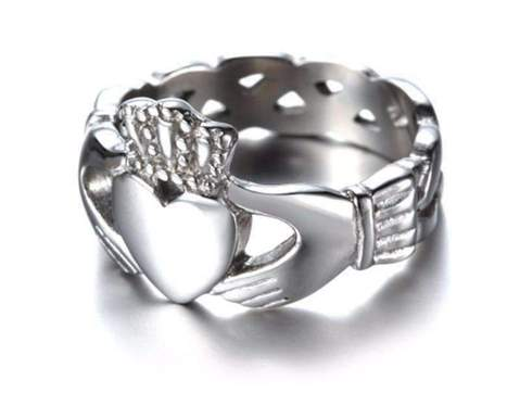 celtic irish stainless steel silver ring