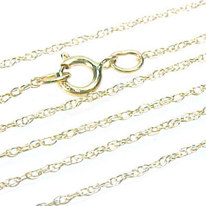 Chain Necklace 14KT Yellow Gold Light Rope Link Style