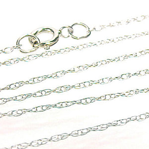 Chain Necklace 14KT White Gold Light Rope Link Style