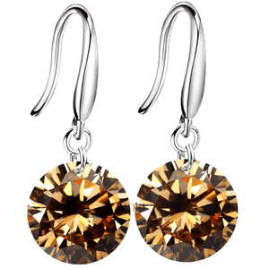 Exotic Gold Naked IOBI Crystals Silver Drill Earrings - 10mm for Woman