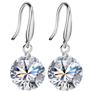 ON SALE - Exotic Ice Naked IOBI Crystals Drill Earrings - 10mm