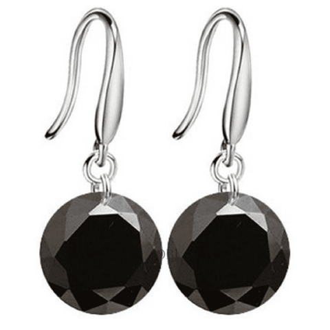 Exotic Obsidian Naked IOBI Crystals Drill Earrings - 10mm