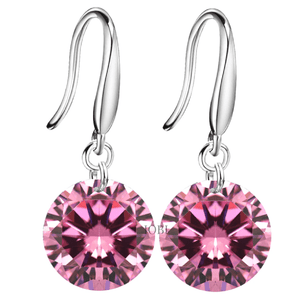 Exotic Rose Naked IOBI Crystals Drill Earrings - 10mm