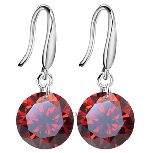 Exotic Ruby Naked IOBI Crystals Drill Earrings - 10mm