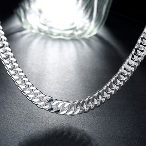 20 inch Silver Curb Link Chain Necklace