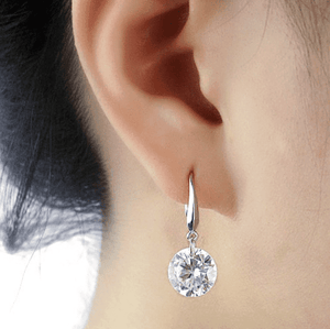 Exotic Ice Naked IOBI Crystals Drill Earrings - 10mm
