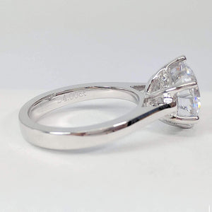 Victoria 4CT Round Cut IOBI Simulated Diamond Solitaire Ring For Woman