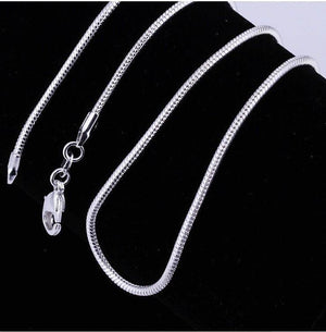Smooth Snake Silver 1mm Chain Necklace 18-28 inches