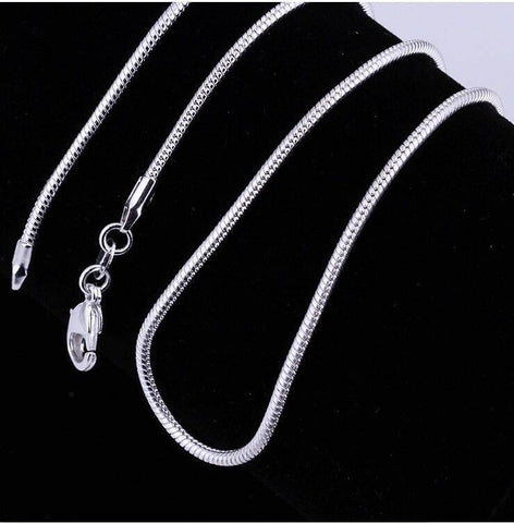 Smooth Snake Sterling Silver 1mm Chain Necklace 18-26 inches