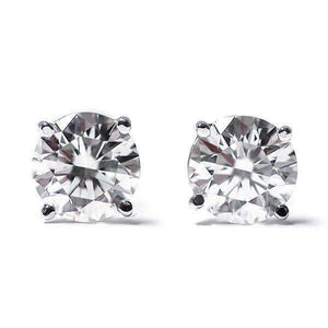 0.22CTW Genuine Diamond Stud Earrings 14K White Gold