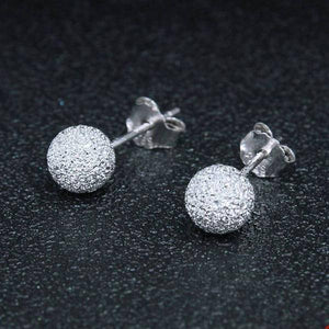 Tiny Textured Sterling Silver Stud Earrings