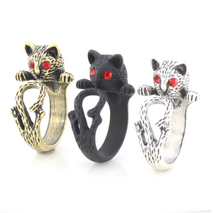 Alley Cat Adjustable Animal Wrap Ring for Women