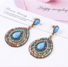 Image of CLEARANCE - Bead and Crystal Filigree Drop Earrings