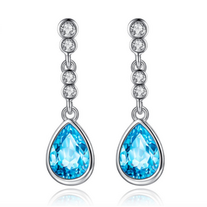 IOBI Crystals Dew Drop Earrings - Choose Your Color