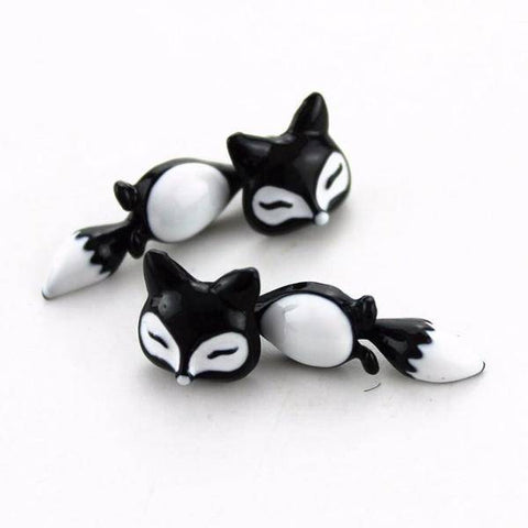 Dancing Fox Two Piece Moving Earrings